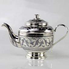Серебряный чайник «Цветочек»