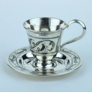Кофейная пара:чашка + блюдце 60мл