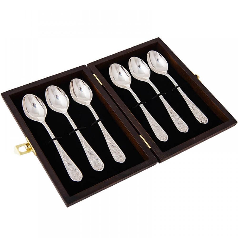 Серебряный набор из 6 чайных ложек